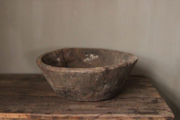 Oude houten schaal Z